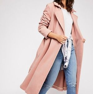 NWOT Free People Sierra Wool Coat